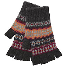 Buy Ted Baker Fair Isle Stripe Gloves, Charcoal/Multi Online at johnlewis.com