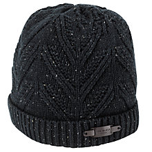 Buy Ted Baker Fisherman's Ribbed Beanie, Navy Online at johnlewis.com