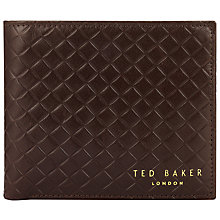 Buy Ted Baker Box Check Card Wallet, Chocolate Online at johnlewis.com