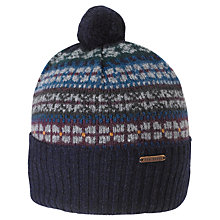 Buy Ted Baker Fair Isle Strip Beanie, Navy Online at johnlewis.com