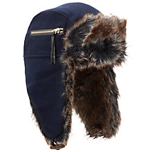 Buy Ted Baker Outpost Trapper Hat, Navy Online at johnlewis.com