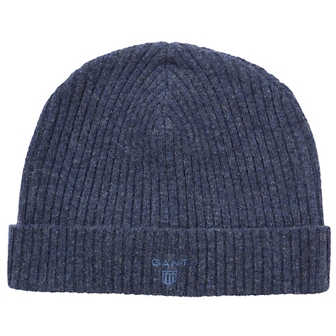 Buy Gant Lambswool Ribbed Beanie Hat Online at johnlewis.com