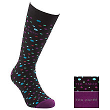 Buy Ted Baker Oatis Dots Socks, Pack of 2, Purple, One Size Online at johnlewis.com