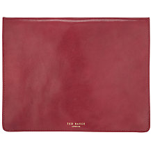 Buy Ted Baker Leather Tablet Case, Red Online at johnlewis.com