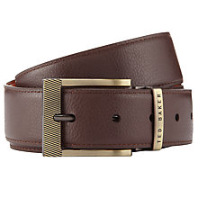 Buy Ted Baker Reversible Belt, Chocolate Online at johnlewis.com
