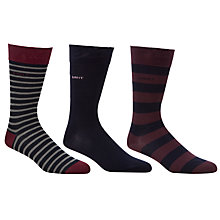 Buy Gant Striped Socks, Pack of 3, Multi Online at johnlewis.com