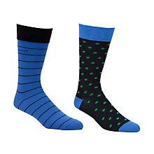 Buy Gant Cotton Socks, Pack of 2, Multi Online at johnlewis.com