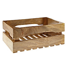 Buy Nkuku Ahanti Wooden Storage Crate, Large Online at johnlewis.com