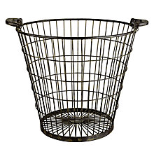 Buy Garden Trading Iron Log Basket Online at johnlewis.com