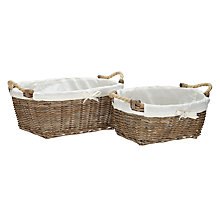 Buy Garden Trading Rattan Baskets, Set of 2 Online at johnlewis.com