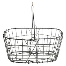 Buy Nkuku Lamu Metal Storage Basket, Grey Online at johnlewis.com