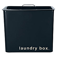 Buy John Lewis Restoration Enamel Laundry Box Online at johnlewis.com