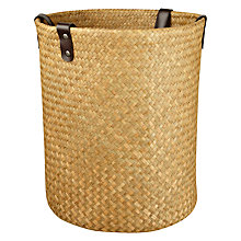 Buy John Lewis Seagrass Basket with Leather Straps Online at johnlewis.com