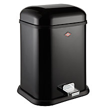 Buy Wesco Single Boy Pedal Bin, 13L, Black Online at johnlewis.com