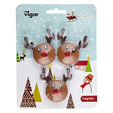 Buy Vigar Rudolph Fridge Magnets, Set Of 3 Online at johnlewis.com