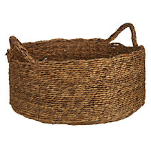 Buy John Lewis Water Hyacinth Shallow Basket Online at johnlewis.com