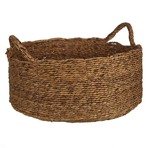 Buy John Lewis Croft Collection Water Hyacinth Shallow Basket Online at johnlewis.com