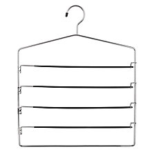 Buy John Lewis 4 Bar Trouser Hanger, Black Online at johnlewis.com
