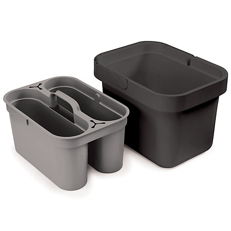 buy joseph joseph clean store bucket and caddy grey john lewis. Black Bedroom Furniture Sets. Home Design Ideas