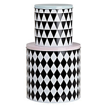 Buy Ferm Living Geometry Tins, Set of 2 Online at johnlewis.com