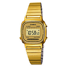 Buy Casio LA670WEGA-9EF Women's Digital Alarm Chronograph Watch, Gold Online at johnlewis.com