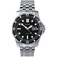 Buy Sekonda 3338.27 Men's Sports Stainless Steel Watch, Black / Silver Online at johnlewis.com