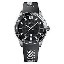 Buy Hugo Boss 1512888 Men's Double Textured Dial Watch, Black Online at johnlewis.com