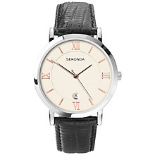 Buy Sekonda 3393.27 Men's Rose Gold Detail Watch, Cream / Black Online at johnlewis.com
