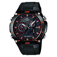 Buy Casio EQW-M1100C-1AER Men's Edifice Wave Ceptor Alarm Chronograph Watch, Black Online at johnlewis.com