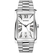 Buy Sekonda 3633.27 Men's Rectangular Stainless Steel Watch, Silver Online at johnlewis.com