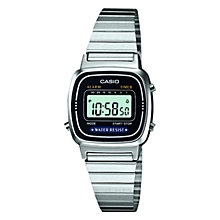 Buy Casio LA670WEA-1EF Women's LCD Stainless Steel Watch, Silver Online at johnlewis.com