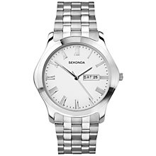 Buy Sekonda 3447.27 Men's Day/Date Stainless Steel Watch, Silver Online at johnlewis.com