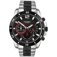 Buy Sekonda 3420.27 Men's Stainless Steel Sports Chronograph Watch, Silver / Black Online at johnlewis.com