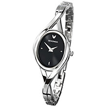 Buy Sekonda 4394.27 Women's Twist Bracelet Oval Watch, Black/Silver Online at johnlewis.com