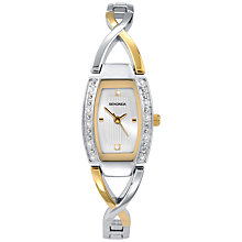 Buy Sekonda 4605.27 Women's Two Tone Diamante Twist Watch, Silver / Gold Online at johnlewis.com