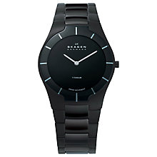 Buy Skagen 585XLTMXB Men's Black Label Architect Titanium Watch, Black Online at johnlewis.com