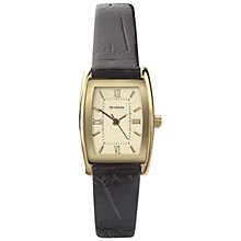 Buy Sekonda 4518.27 Women's Tonneau Leather Strap Watch, Gold / Brown Online at johnlewis.com