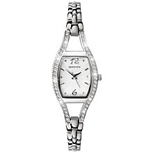 Buy Sekonda 4191.27 Women's Diamante Bezel Stainless Steel Bracelet Strap Watch, Silver Online at johnlewis.com