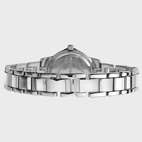 Buy Sekonda 4618.27 Women's Diamante Pearlescent Bracelet Strap Watch, Silver / White Online at johnlewis.com