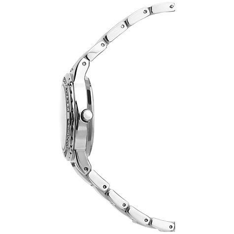 Buy Sekonda 4674.27 Women's Diamante Pearlescent Bracelet Strap Watch, Silver/White Online at johnlewis.com