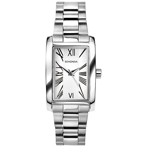 Buy Sekonda 4633.27 Women's Rectangular Stainless Steel Watch, Silver Online at johnlewis.com
