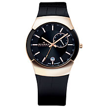 Buy Skagen 983XLRLDB Men's Black Label Executive Watch, Black / Rose Gold Online at johnlewis.com