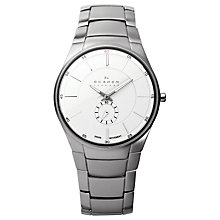 Buy Skagen 924XLSXS Men's Stainless Steel Watch, Silver / White Online at johnlewis.com
