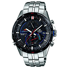 Buy Casio EQS-A500RB-1AVER Men's Edifice Red Bull Special Edition Alarm Watch, Black Online at johnlewis.com