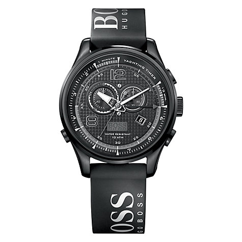 Buy Hugo Boss 1512832 Men's Sailing Timer Chronograph Watch, Black Online at johnlewis.com