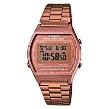Buy Casio B640WC-5AEF Women's Classic Digital Alarm Watch, Rose Gold Online at johnlewis.com