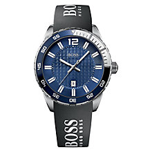 Buy Hugo Boss 1512887 Men's Double Textured Dial Watch, Black / Blue Online at johnlewis.com