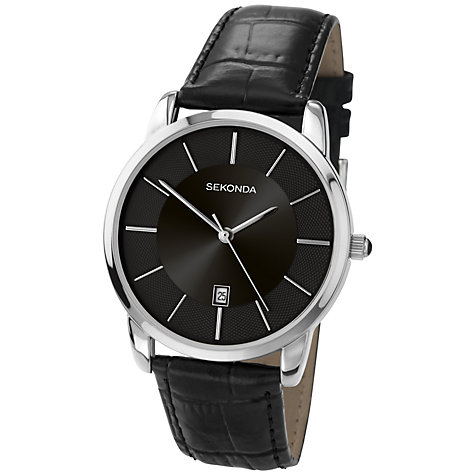 Buy Sekonda 3346.27 Men's Classic Baton Marker Watch, Black Online at johnlewis.com