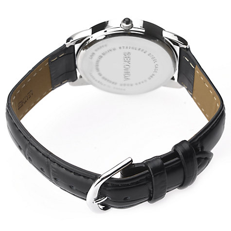 Buy Sekonda 3346.27 Men's Classic Baton Marker Leather Strap Watch, Black Online at johnlewis.com