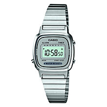 Buy Casio LA670WEA-7EF Women's LCD Stainless Steel Watch, Silver Online at johnlewis.com